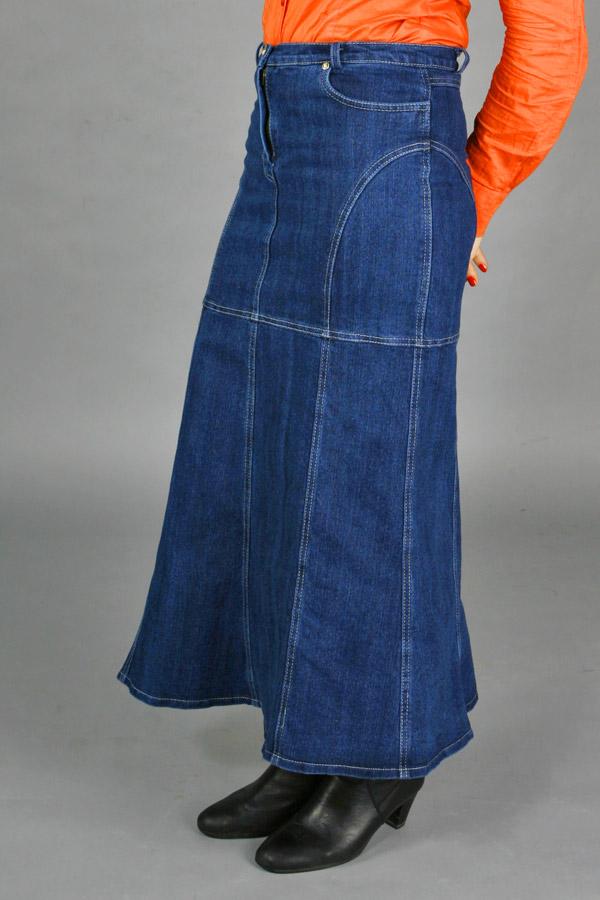 Длинная джинсовая юбка «Ива Три»