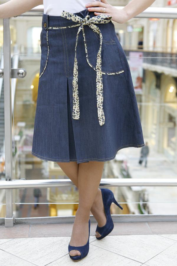 Джинсовая юбка LK101 синяя