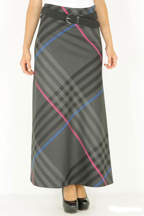 Демисезонная длинная юбка EF314MAU