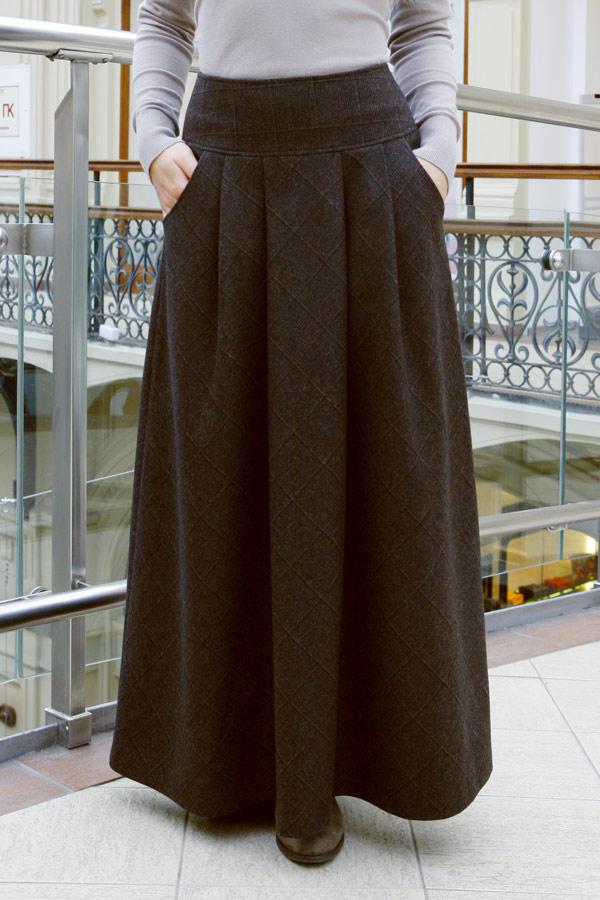 Зимняя юбка макси «Кремона Лунга»