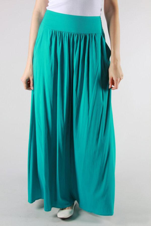 Длинная летняя юбка EF209MOL - карибский зеленый