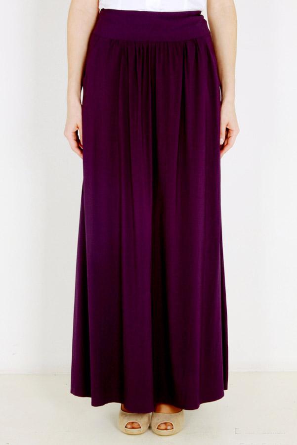 Длинная летняя юбка EF309JIZ фиолетовая