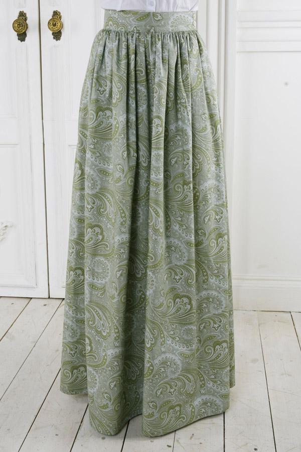 Длинная юбка «Зеленая прохлада»