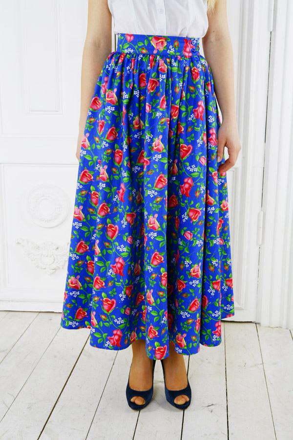 Длинная юбка «Дикая роза»