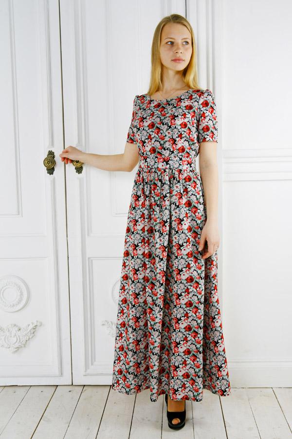 Летнее длинное платье «Крошка Доррит»