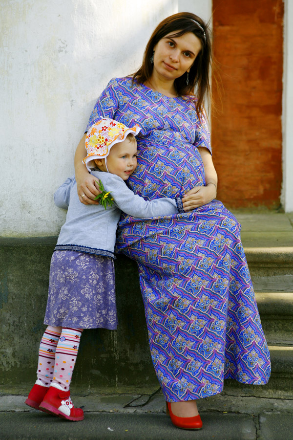 Домашнее платье с завышенной талией «Венецианский узор»