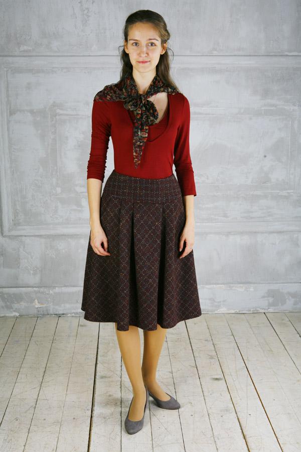 Шерстяная юбка «Шоколадница»