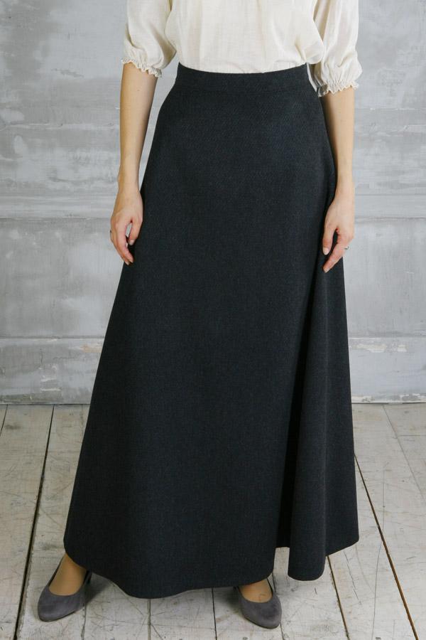 Шерстяная юбка макси «Мэри Поппинс»