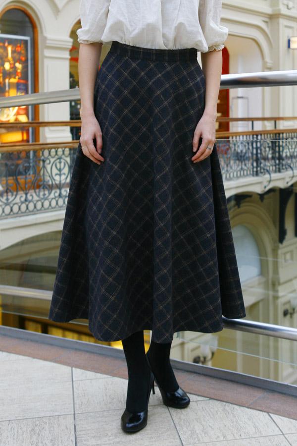 Шерстяная юбка в пол «Кокетка»