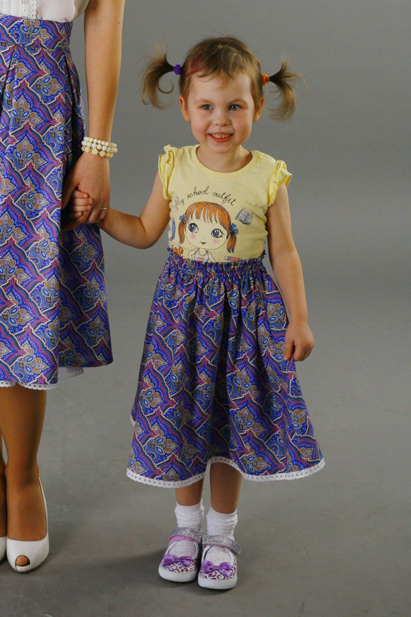 Детская юбка из комплекта family look «Мозаика»
