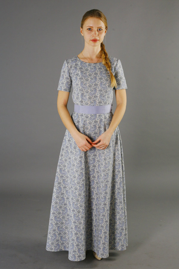Длинное платье из хлопка «Пастораль»