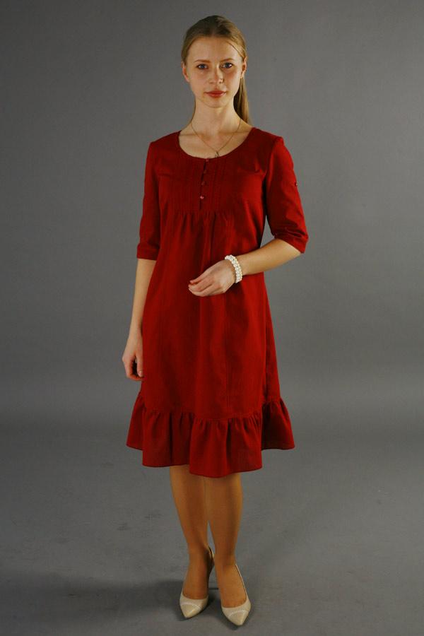 Платье бордовое «Виктория»