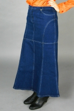Длинная джинсовая юбка «Ива Один»