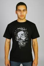 Мужская футболка с черепом «Избежать нельзя. Приготовиться можно»