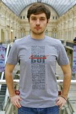 Мужская футболка «Спаси Бог»