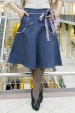 Джинсовая юбка LK102 синяя