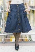 Джинсовая юбка LK103 синяя