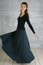 Шерстяная юбка макси «Алиса»