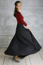 Шерстяная юбка макси «Версаль»