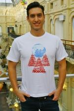 Мужская футболка «Любовь держит Землю» белая